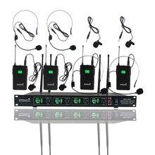 STARAUDIO 4CH UHF Wireless Mikrofon System 4CH Headset Lavalier-mikrofon Für Club Bühne Karaoke Kirche KTV Party SMU-4000B