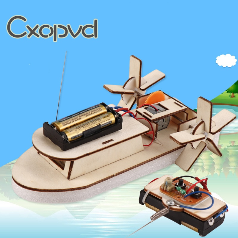 DIY Paddle Wheel Ship Assembling Model Kit,Educational Building Toys, Kids Educational Toys diy simulation remote control ship model kit for tug804 tugboat rescue ship small scale and moped tugboat 1 18