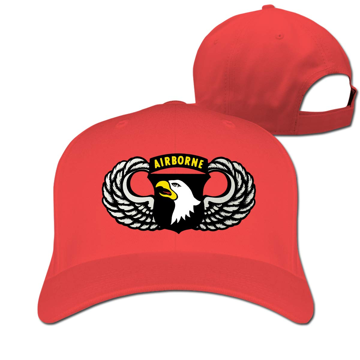 Vintage 101th Airborne Insignia Unisex Einstellbare Baseball Hut Sunbonnet Klar Hut Golf Hysterese Kappe