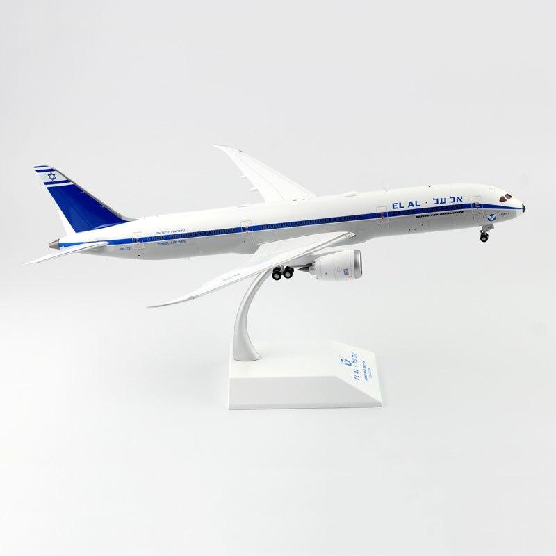 طائرة الطيران الإسرائيلي EL AL AL-موديل 787B787 ، مقياس 1:200 ، معدات الهبوط ، سبيكة ، طائرة للأطفال ، مجموعة ألعاب