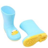Kids Rain Boots Waterproof Garden Shoes Cute Cat Duck Penguin Cartoon Children Booties for Girls Boys
