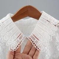 female vintage women cotton lace fake collar blouse cute detachable shirt collar false collar lapel blouse clothes accessories