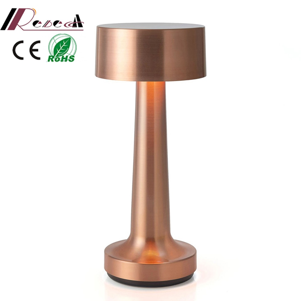 Restaurant Table Lamps Vintage Bar LED Night Lights Portable Battery Chargeable Desk Light Fixtures Bedroom Bedside Lamp Decor