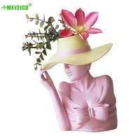 european style portrait resin sculpture flower pot floral living room desktop balcony home decoration ornaments