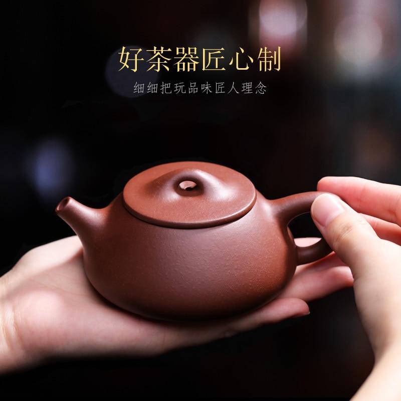 Yixing-مغرفة حجرية على شكل القرع ، صناعة يدوية ، إبريق شاي منزلي صغير أصلي