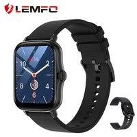 LEMFO P8 плюс Смарт-часы 2021 1,7 дюймов полный сенсорный экран для мужчин фитнес-трекер IP67 из водонепроницаемого материала; GTS 2 Smartwatch для телефоно...