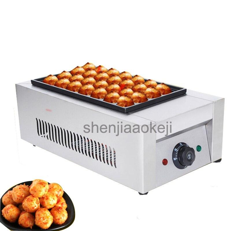 المهنية الكهربائية الأخطبوط الكرة آلة غير عصا وعاء الأسماك الكرة فرن التجاري واحد مجلس الأخطبوط الكرة آلة 220v 1 قطعة