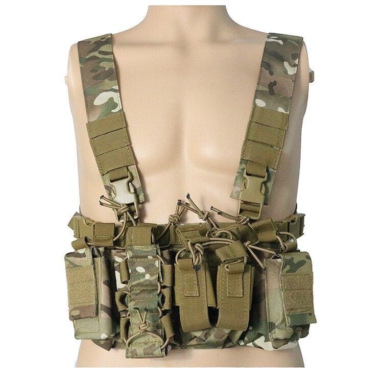Походный охотничий жилет, тактический Молле, тройной Открытый Топ, маг, сумка, быстрая AK AR M4 FAMAS Mag, Сумка с подтяжками, наплечный ремень