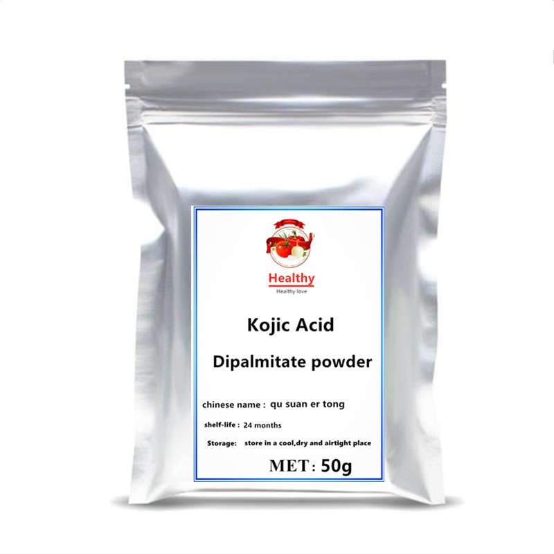 Hot Sale Kojic Acid Dipalmitate powder Pure Cosmetics 99% Kojic Acid Soap Skin Whitening Serum Extract Freckle Removing kojic acid and its derivatives