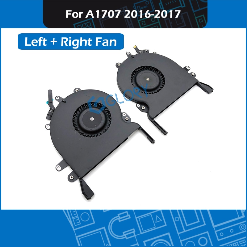 "10pair/Lot A1707 Fan Left + Right for MacBook Pro Retina 15"" Touchbar A1707 CPU Cooling Cooler Fan set Replacement 2016 2017"