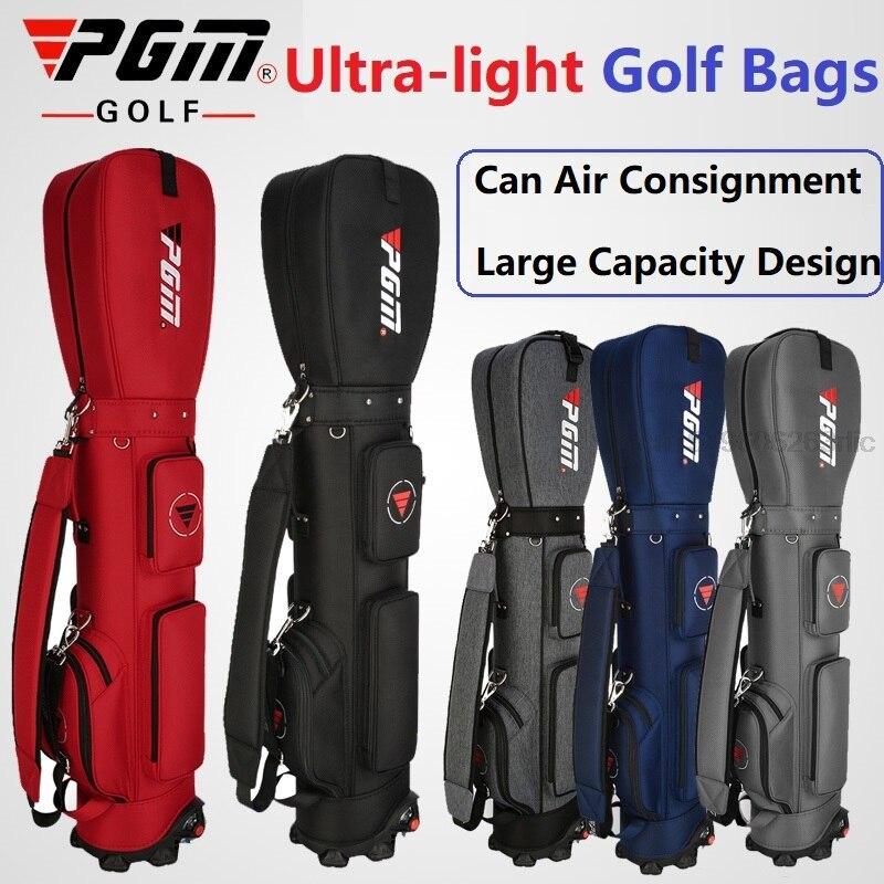 PGM-حقيبة طيران للجولف مع عجلات ، رياضية ، خفيفة للغاية ، قياسية ، تخزين كرة الجولف ، سعة كبيرة ، متعددة الوظائف