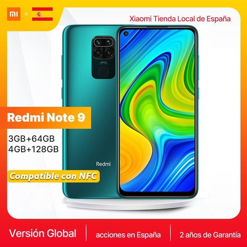 "Xiaomi Global Version Redmi Note 9 Smartphone NFC 6.52"" FHD 64GB 128GB MTK G85 5020mAh 18W fast charge 48MP quad camera"