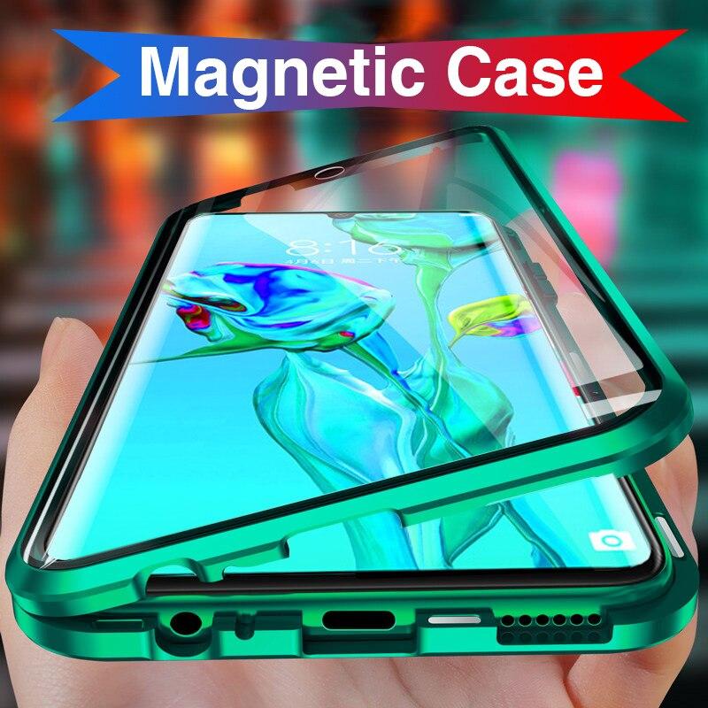 360 Magnetic Adsorption Flip Phone Cases For Xiaomi Redmi Note 9S 8 Pro 7 Magnet Glass Back Covers on Xaomi Xiomi Mi 10 Pro Mi10