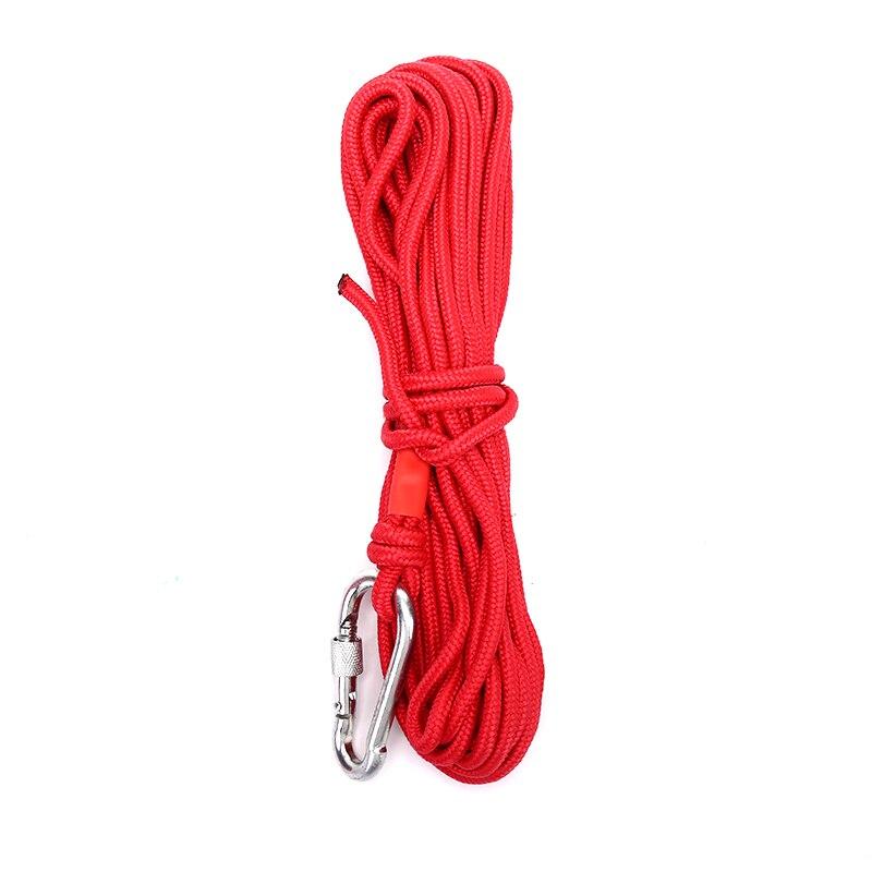 10M nuevo imán rojo de pesca cuerda fuerte búsqueda imanes tarro de pesca imán cuerda Dropshipping