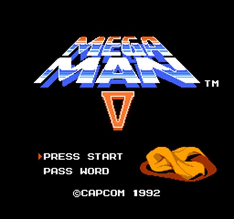 MEGAMAN-cartucho de juego para consola, 5, 60 Pines, versión en inglés, 8...