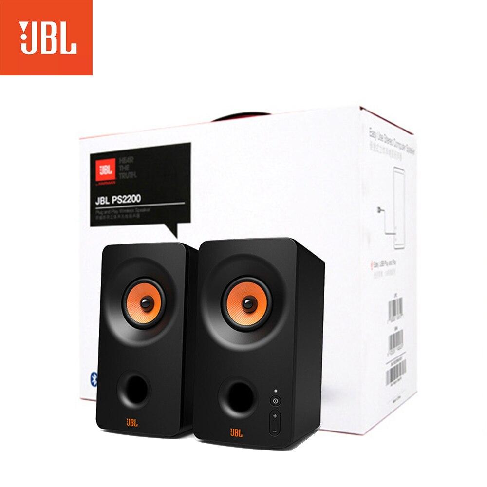 الأصلي JBL PS2200 بلوتوث مكبر الصوت اللاسلكي USB 2.0 المنزل مضخم الصوت سطح المكتب بلوتوث لعبة المتكلم الكمبيوتر المحمول المتكلم