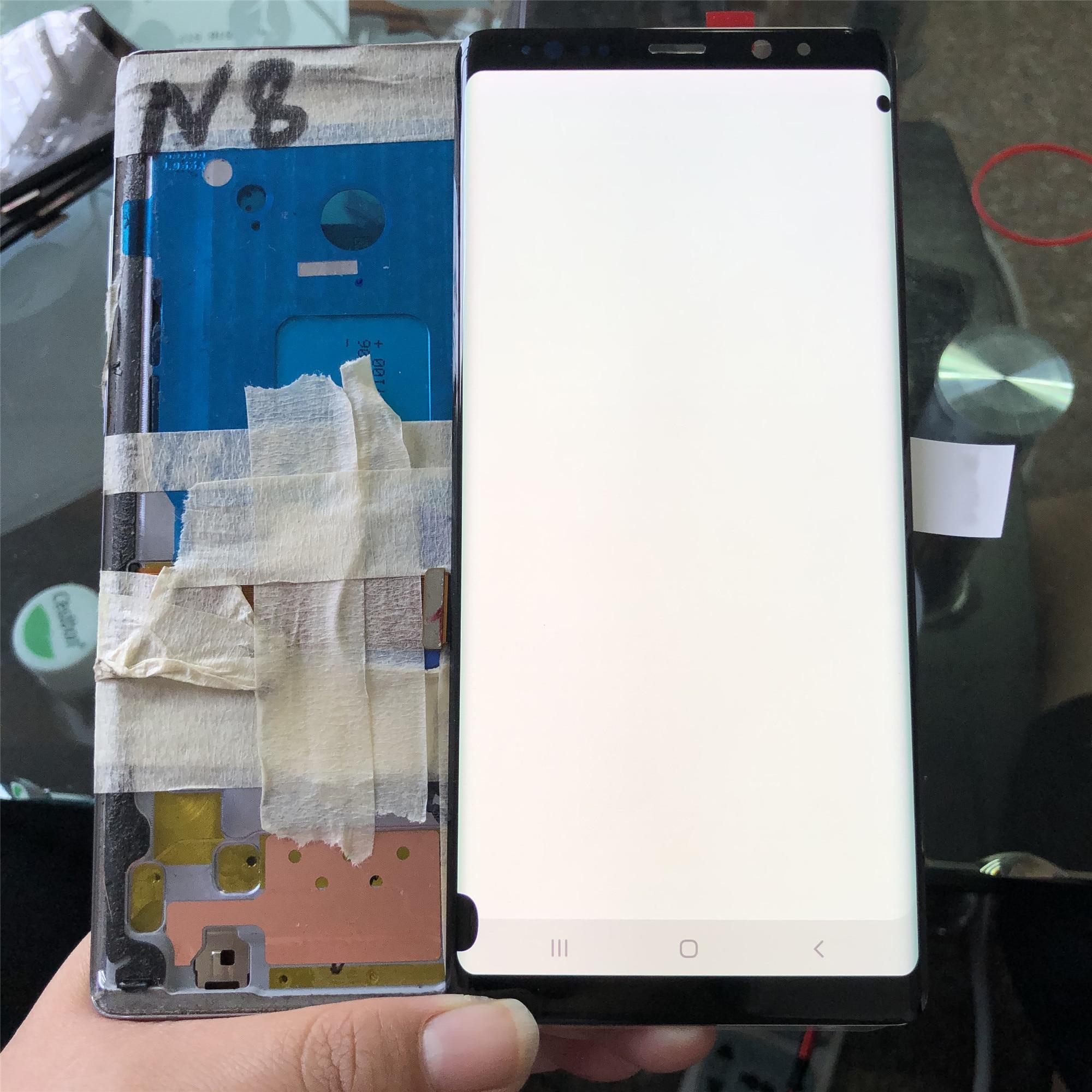 SUPER AMOLED con pantalla de puntos negros para SAMSUNG Galaxy Note 8, LCD N950U N950I N950F Note 8, montaje de pantalla táctil