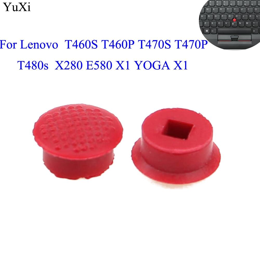 YuXi 2pcs para Lenovo ThinkPad 2016 T460S T460P T470S T470P T480s X280 E580 X1 YOGA X1 Carbono 4th 5th 6th trackpoint boné vermelho