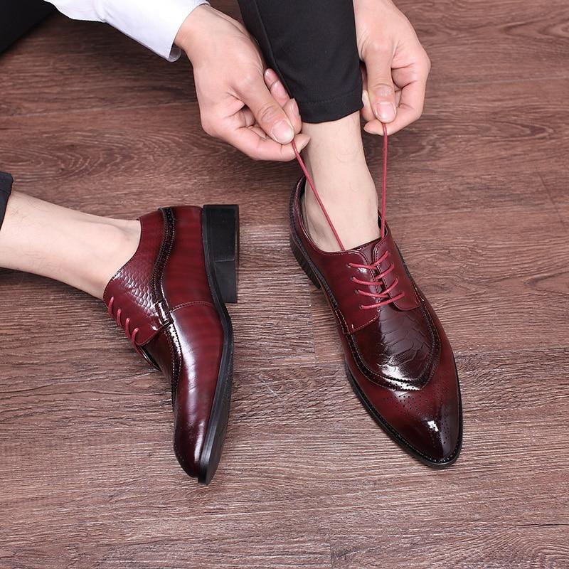 2020, zapatos italianos de cuero de alta calidad, zapatos de negocios de moda para hombres, zapatos informales con punta estrecha, zapatos planos para boda, zapatos de fiesta