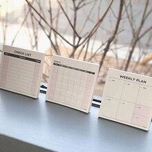 Quotidien hebdomadaire mensuel bureau agenda planificateur autocollants planificateur planification tampons à faire liste liste liste mémo bloc-notes papier bureau