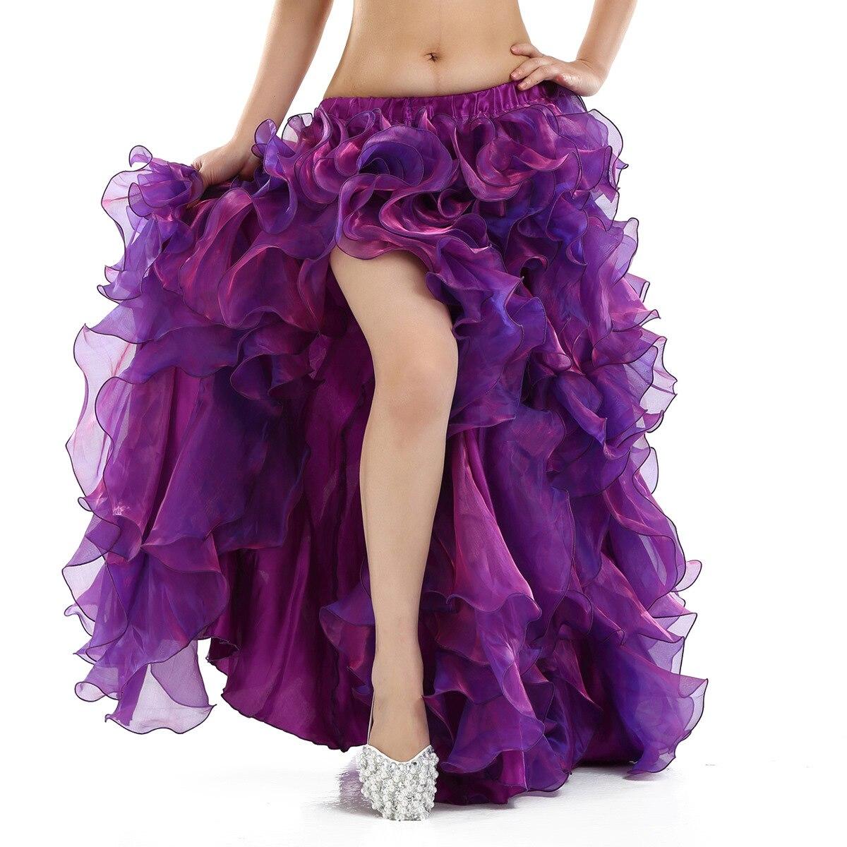 Dancers belly dance bitter fleabane bitter fleabane skirt hem skirts Oriental dance open fork leg dance skirt