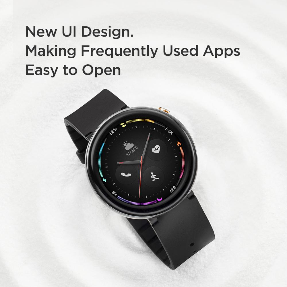 Amazfit-ساعة ذكية Nexo ، إصدار عالمي ، شاشة AMOLED 1.39 بوصة ، 10 أوضاع رياضية ، GPS Glonass لهاتف Android