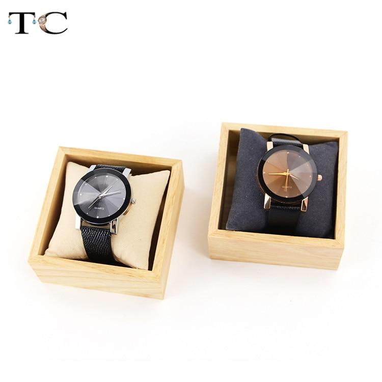 Caja de reloj de madera pulsera caja de regalo de joyería caja de regalo rejilla organizador cajas de almacenamiento para relojes caja de madera de lujo con almohadas