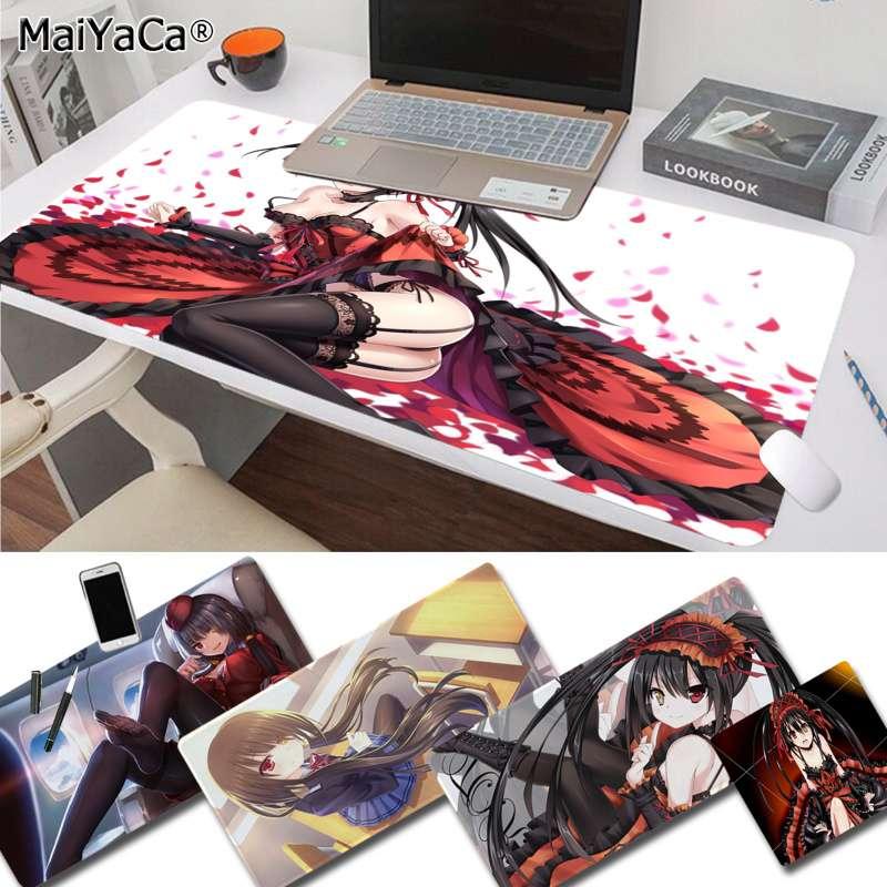 MaiYaCa Nueva pesadilla impresa Tokisaki Kurumi date alive DIY patrón de diseño juego alfombrilla de caucho para ratón ordenador ratón para juegos