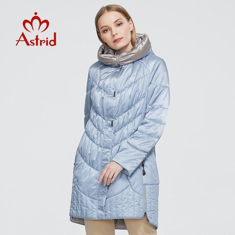 Astrid-معطف شتوي نسائي ، جاكيت بغطاء للرأس ، مقاس كبير ، كاجوال ، لون خالص ، نمط أوكرانيا ، AM-5810