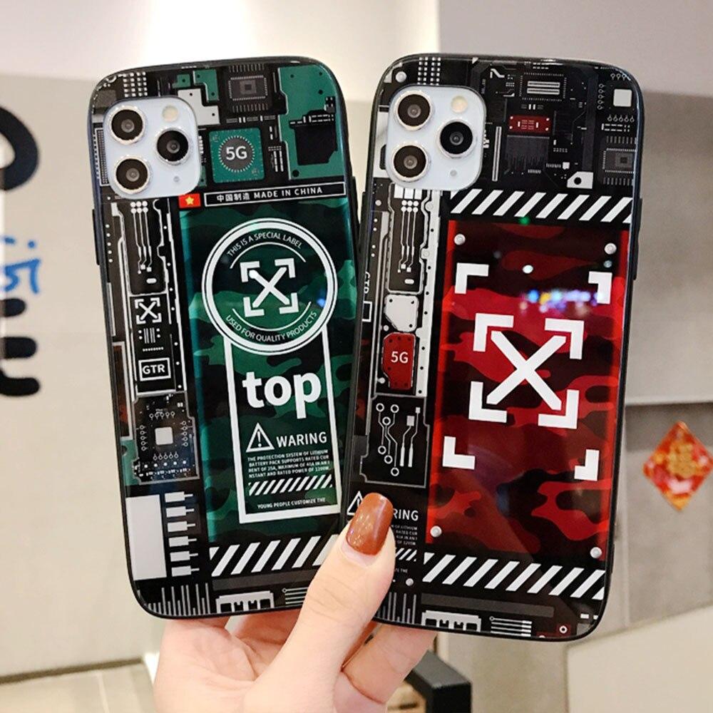 Gehärtetem Glas Telefon Fall Für Apple iPhone 11Pro X XR XS Max 8 7 6S 6 Plus Abdeckung Fall zerlegen Bare Stark ich 7plus Fällen