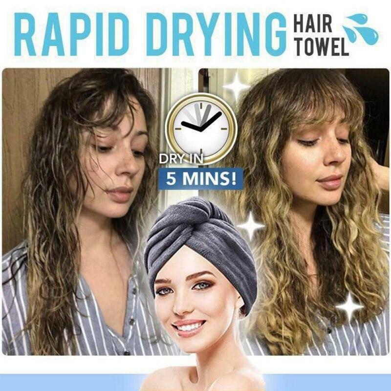 Уход за волосами из кораллового флиса полотенце для сушки волос супер абсорбент твист волосы обертывание Душ шапка-тюрбан шляпа для вьющихся длинных и густых волос