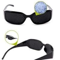 2020 black unisex vision care pin eye small hole eyeglasses hole glasses eye exercise eyesight improve plastic natural healing