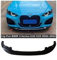 new high quality abs black carbon fiber front lip protector cover for bmw 4 series g22 g23 2020 2021 2022