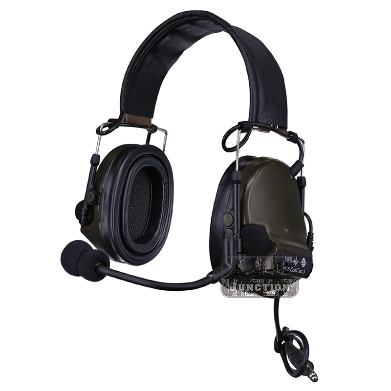 Auriculares tácticos de reducción de ruido FCS Peltor Comtac III 3 auriculares de silicona para disparar Walkie Talkie FG
