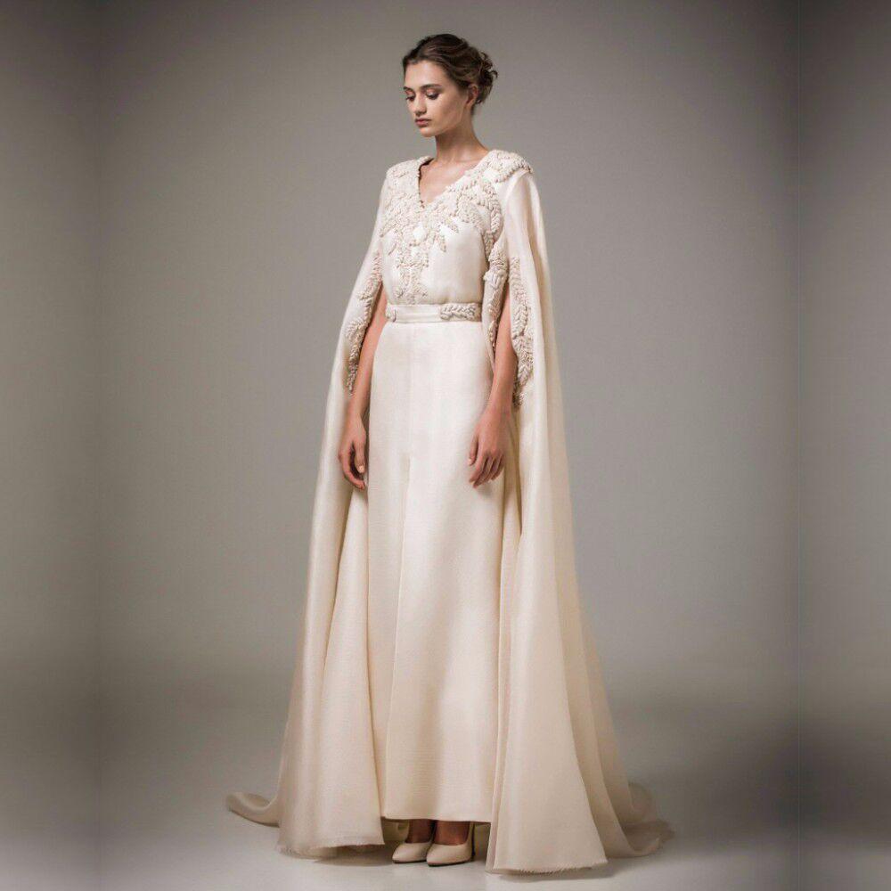 Kaftan árabe musulmán turco largo vestido formal para mujer de noche con perlas abrigo Robe de Soiree baratos vestidos de Madre de la novia