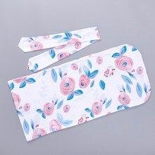 Floral Blanket Pink Baby Girl Swaddle Set Headband Sleeping Sack Bag Gown Newborn Infant Toddler Boy Unisex 0-6 M Winter Clothes
