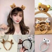 cute bear headbands mens women plush wool headband teddy hair towel kawaii girl hair bands and hair accessorie