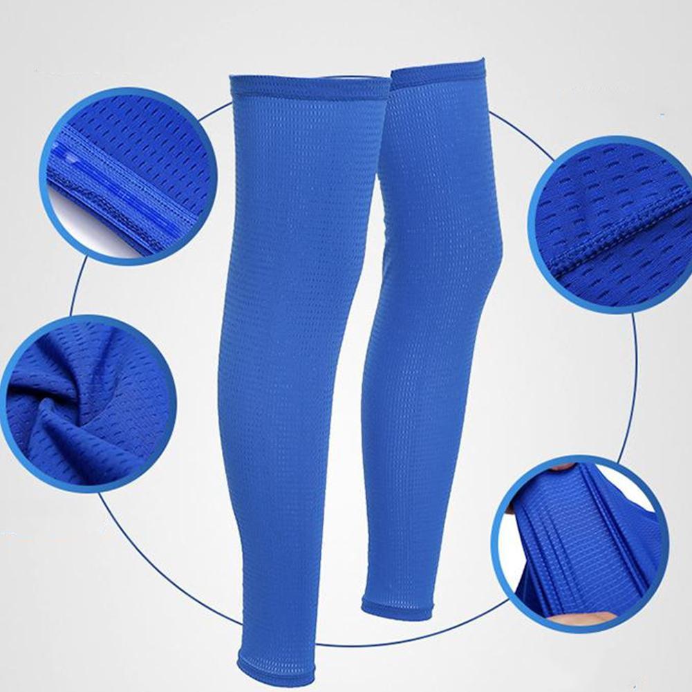 Antideslizante deportes compresión pierna manga de baloncesto fútbol pantorrilla soporte para correr espinillera ciclismo pierna calentador protección solar UV