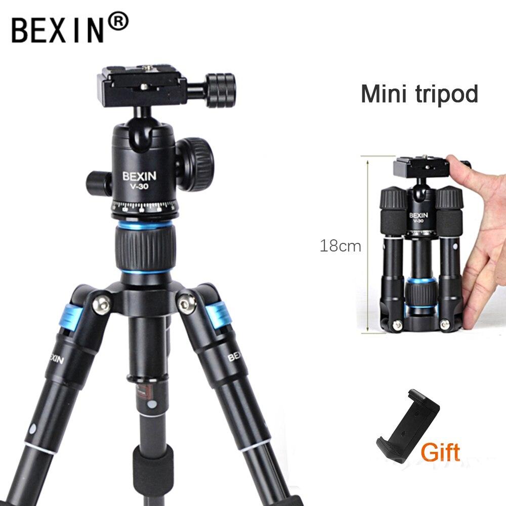 BEXIN M225S سطح المكتب ترايبود صغير محمول للهاتف الموقت الذاتي لايف كاميرا ثلاثية التصوير SLR منضدية كرة صغيرة ترايبود رئيس