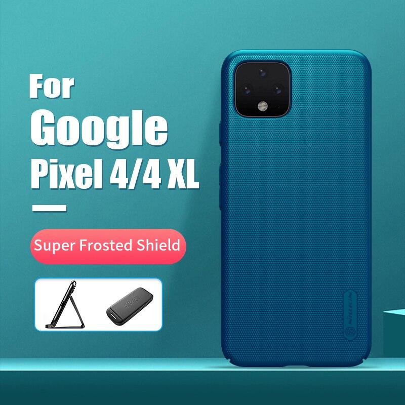 Para Google Pixel 4 XL funda 6,3 NILLKIN Frosted PC cubierta trasera dura mate con soporte de teléfono de regalo para Google Pixel 4 funda 5,7