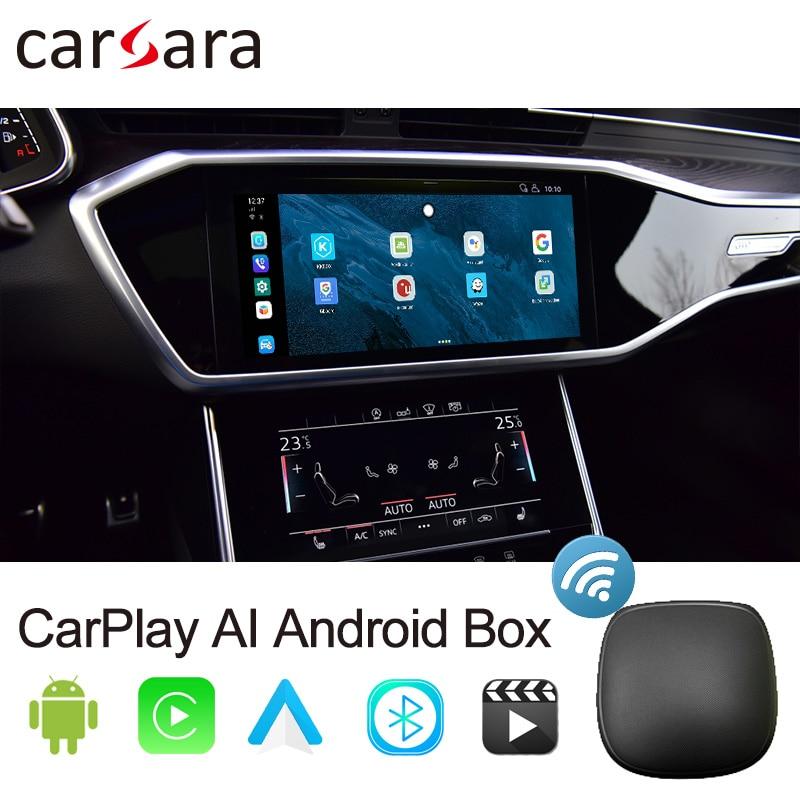 Review CarPlay Android AI Box Apple Mini Pie Car Play AI Netfix UX999 4+64G Android Auto for Mercedes BMW Audi VW Kia Nissan Hyundai