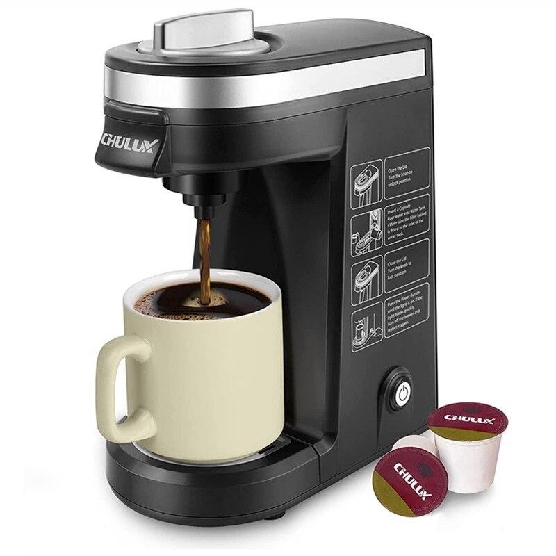 ماكينة صنع الشاي والقهوة واحدة للمشروبات K-Cup الأرض مسحوق المشروب قوة التحكم مع تصميم مدمج وظيفة التنظيف الذاتي