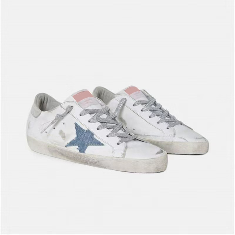 Autumn New First Layer Cowhide Parent-child Retro Old Small Dirty Shoes Children's Denim Star Casual Family Matching Shoes QZ82 enlarge