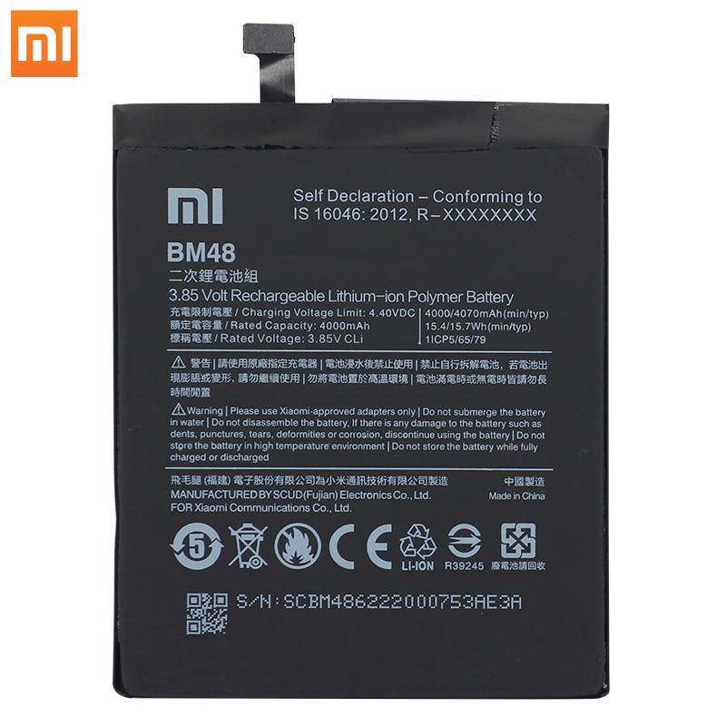 Original Xiaomi Mi Note 2 Note2 Phone batteries BM48 High Capacity Rechargeable Phone Battery 4000mAh Free Tools Phone AKKU enlarge