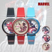 Marvel Avengers Captain America Spiderman Ironman Kids WristWatches Children Cartoon Quartz Watch St