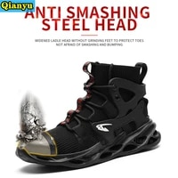 2021women and men work safety shoes be applicable outdoor steel toe anti smashing puncture proof work boots