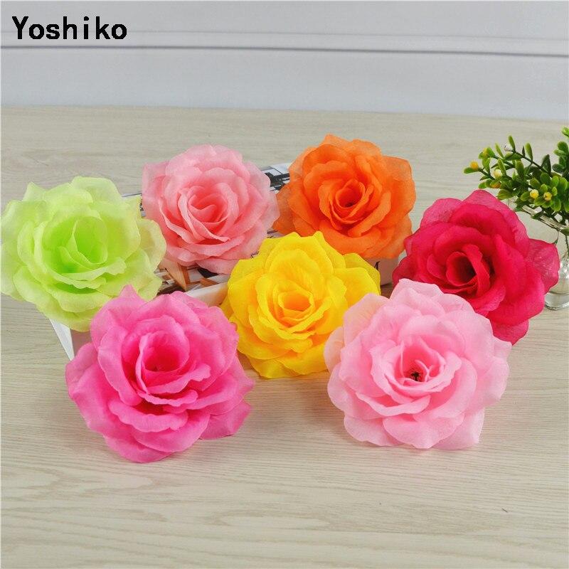 5 uds. Grandes 10cm rosas flores artificiales boda hogar Navidad decoración diy artesanía adornos arreglo de flores