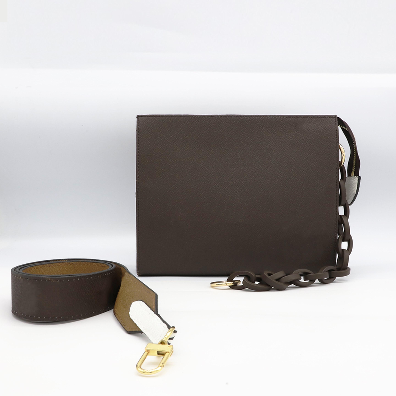 حقيبة ساعي للسيدات من Luxurey بتصميم أنيق عالي الجودة من الجلد لعام 100% حقيبة كتف واسعة من سلسلة بأحزمة متعددة الوظائف
