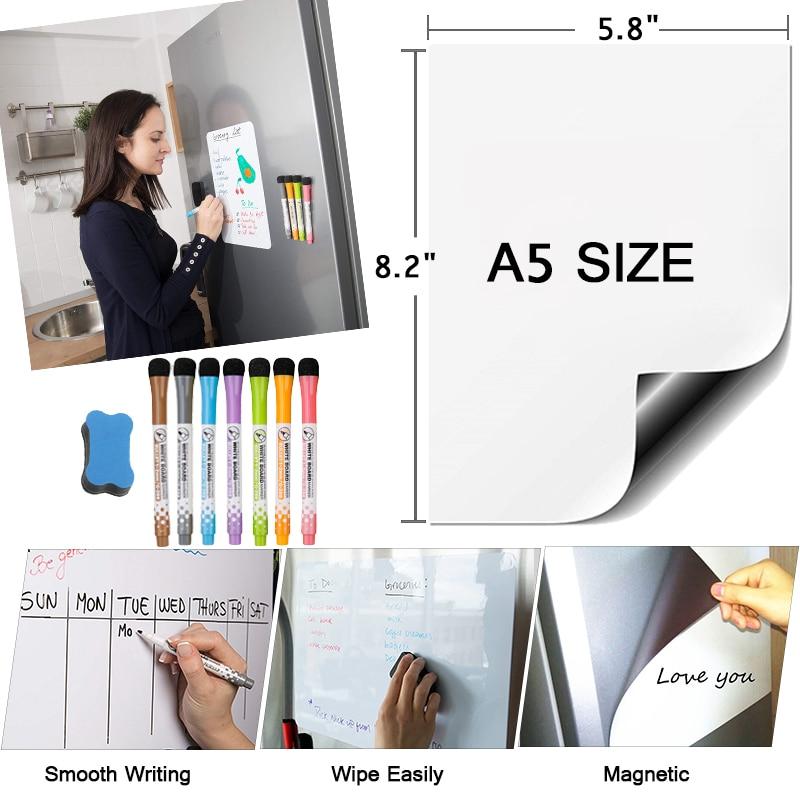 Магнитная доска, доска для сухого стирания, магнитная белая доска на холодильник, записная книжка, записная книжка, обучающий планировщик, з...