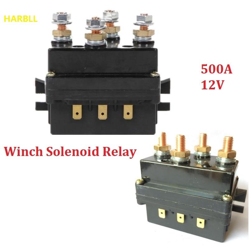 HARBLL 12V cabrestante solenoide relé controlador 500A DC interruptor 4WD 4x4 barco ATV Control